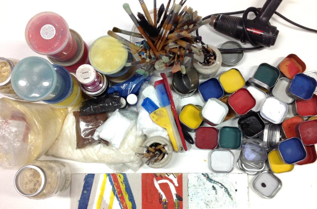 Atelier de peinture à l'encaustique